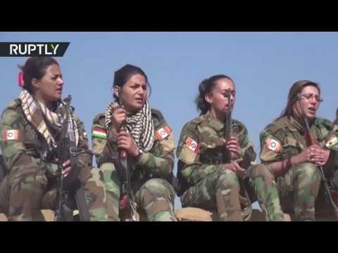 شاهد مغنيات كرديات يخضن معركة الموصل