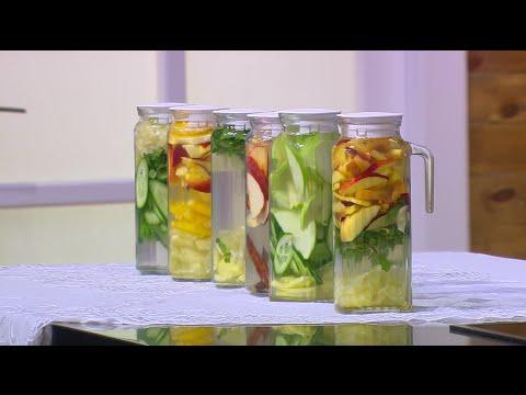 بالفيديو طريقة إعداد مشروب البرتقال والخوخ والليمون