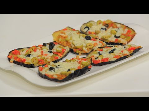 بالفيديو باذنجان بيتزا
