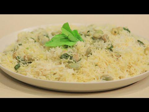 بالفيديو أرز بالفول الأخضر