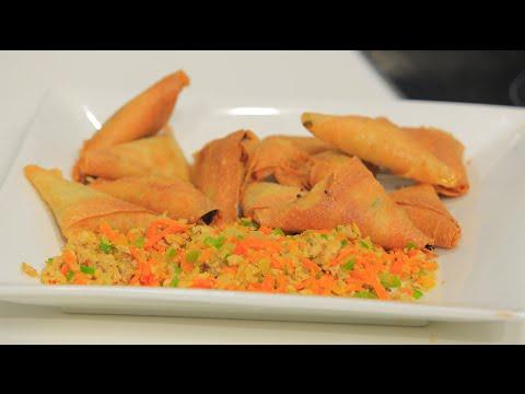 بالفيديو طريقة إعداد ومقادير سمبوسك بالدجاج