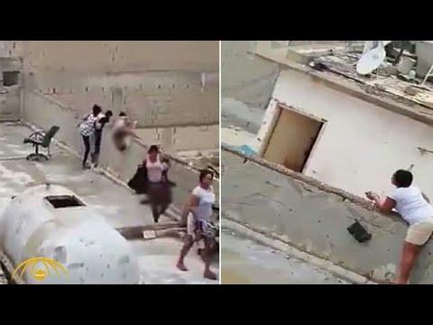 شاهد لحظة هروب فتيات خلال مداهمة أوكار مشبوهة في الكويت