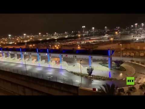 شاهد كورونا يعطل مطار بن غورويون